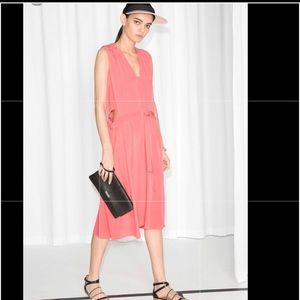 And Other Stories coral dress